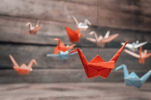 Origami Kranich - Tutorial Quadrat
